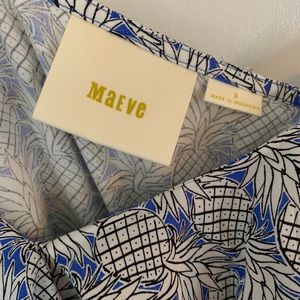 Maeve Tops - Never worn! Off shoulder pineapple print shirt.